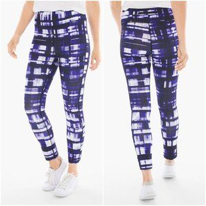 Zenergy by Chico's Purple Ruched Detail Leggings 1